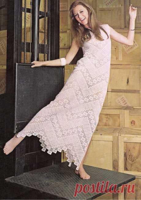 платья, сарафаны - Волшебная филеечка-оригинальное вязание крючком.