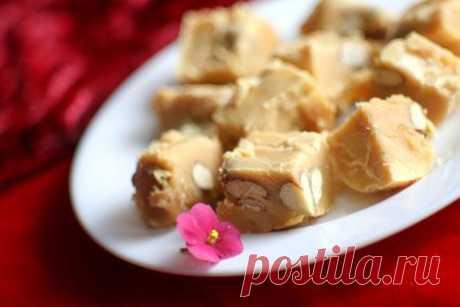 Ванильная сливочная помадка с орехами | Кулинарные рецепты от Ксении