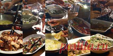 Грузинские закуски Георгия Тотибадзе 6 сногсшибательных рецептов — осетрина в гранатовом соусе и язык в чесночно-винном, жареные поросенок, сулугуни и баклажаны, а также вешенки по-кахетински