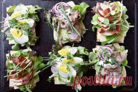 Холодные открытые бутерброды в датском стиле - сезоны и ужины