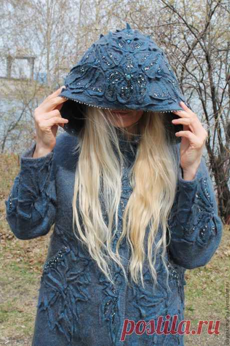 Пальто валяное Туманное утро-2 – купить в интернет-магазине на Ярмарке Мастеров с доставкой - C1ET1RU   Иркутск