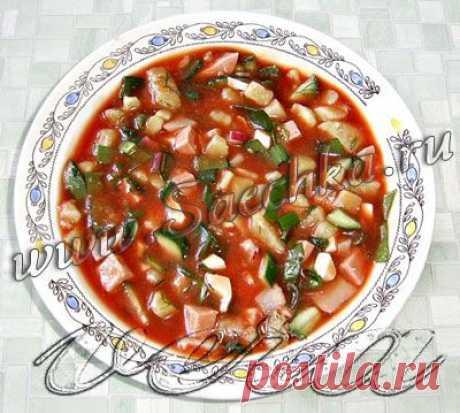 Окрошка на томатном соке | рецепты на Saechka.Ru