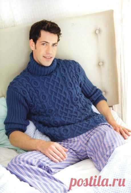 Вязаные свитера спицами. Подборка из 13 моделей модных свитеров на knitka.ru, Вязание для мужчин