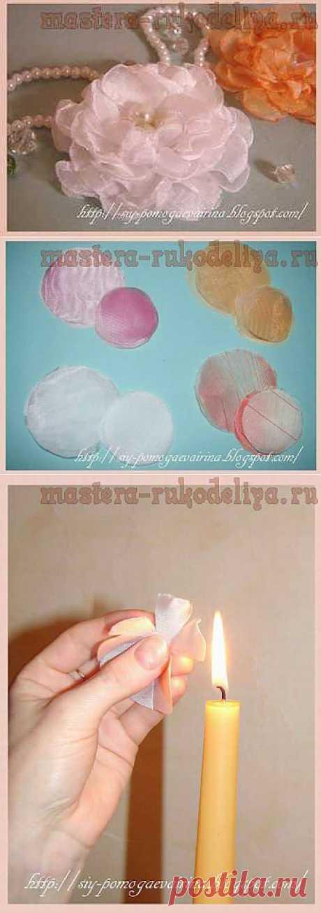Мастера рукоделия - рукоделие для дома. Бесплатные мастер-классы, фото и видео уроки - Мастер-класс по цветам из ткани: Воздушная роза