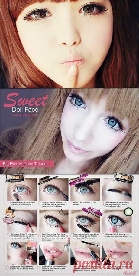 Asian Make-up (la clase maestra) \/ el Maquillaje\/manicura \/ la SEGUNDA CALLE