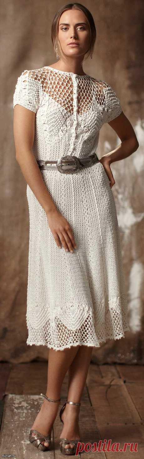 Винтажное платье крючком .