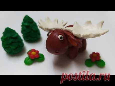 🌳Как слепить Лося из мастики или пластилина (Cake/Fondant Topper - Moose). - YouTube