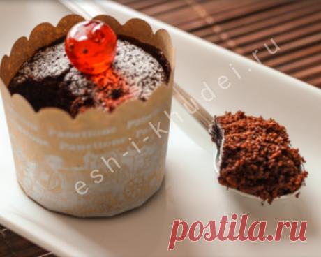Шоколадный кекс в микроволновке – правильный перекус на 122 ккал. Приготовлен из простых продуктов без добавления муки, сахара и масла всего за 5 минут!