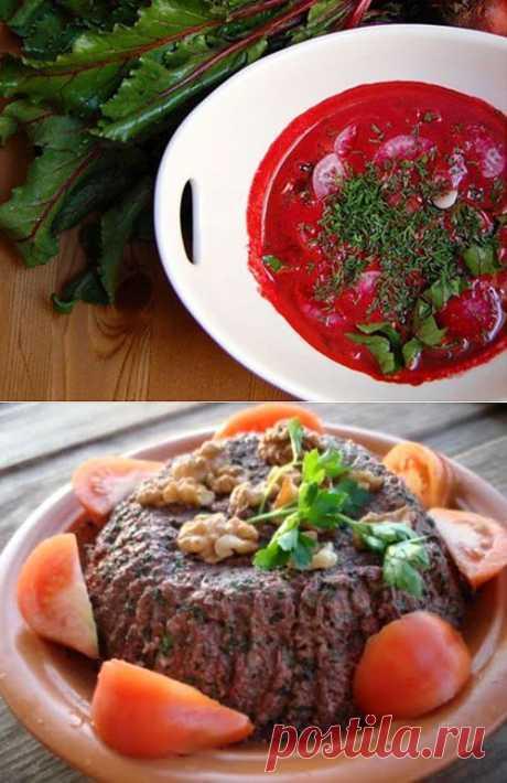 Блюда из свекольной ботвы / Простые рецепты