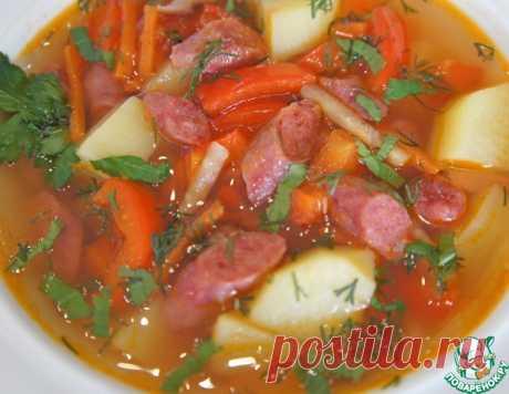 Острый испанский суп с колбасками – кулинарный рецепт