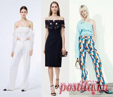 Модные тенденции весна - лето 2016, полный фото - обзор  открытые плечи