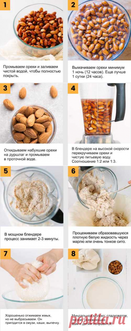 Миндальное молоко — польза и вред, рецепт приготовления