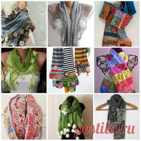 Как сшить шарф: 5 сумасшедших идей
