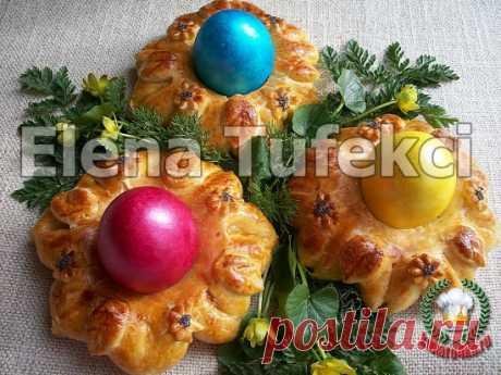 Готовимся к Пасхе - печем булочки подставочки для яиц