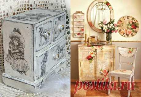 Идеи декора старой мебели своими руками: фото пошагово | Своими руками