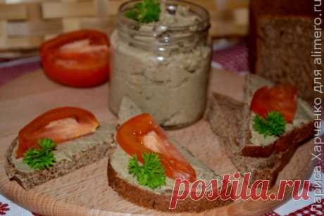 Haricot and champignons paste