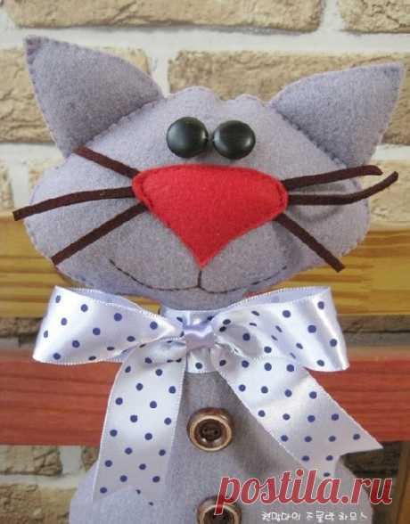 Мартовские коты из флиса, плотной ткани или трикотажа — Рукоделие