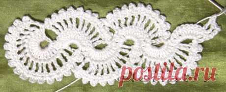Ленточное кружево крючком Схемы Описание вязания