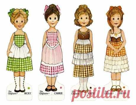 Бумажные куклы с одежками. 7 листов для распечатки — Планета и человек