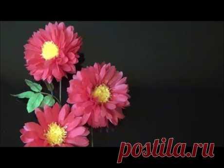 (ペーパーフラワー)ダリアの作り方【DIY】(Paper Flower) How to make Dahlia