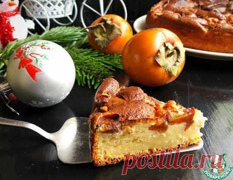 Пирог на сметане с хурмой – кулинарный рецепт