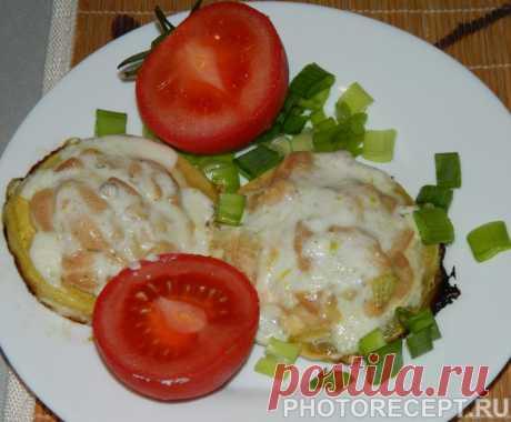Запеченные фаршированные кабачки с куриным филе - рецепт с фото пошагово