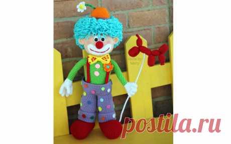 Клоун Арло Вязаный крючком клоун Арло. Схема