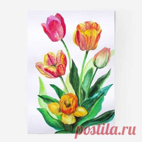 We draw tulips
