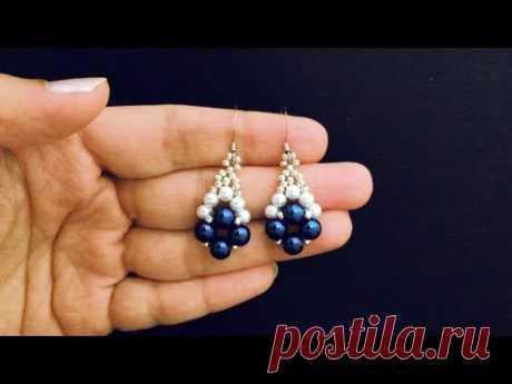 Wedding beaded Earrings.Simple Project