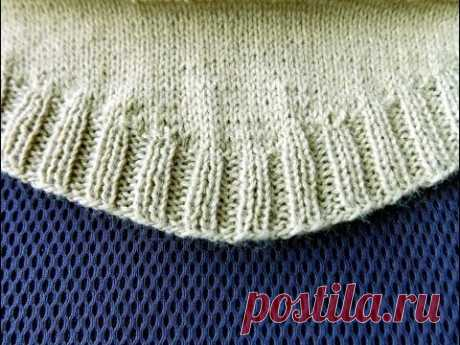 The rounded-off bottom of a knitted product - YouTube