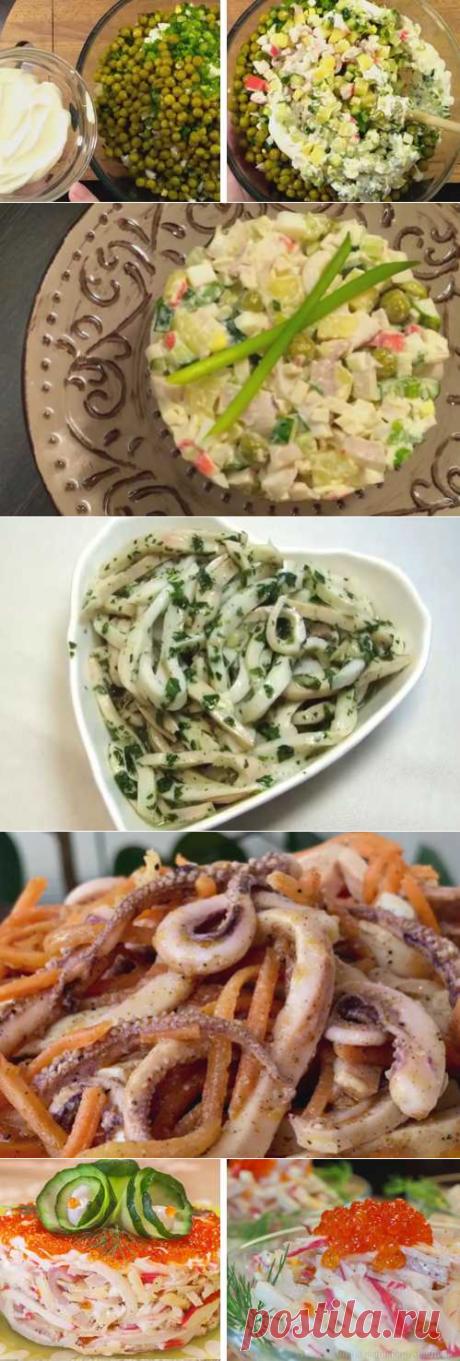 Салат из кальмаров: ТОП-12 очень вкусных рецептов с фото