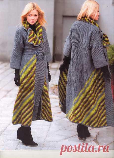 """Диагональ&quot coat; spokes. BOHO style. Fashion magazine Knitting No. 585. Author Svetlana Volkodav (trOpiki)"
