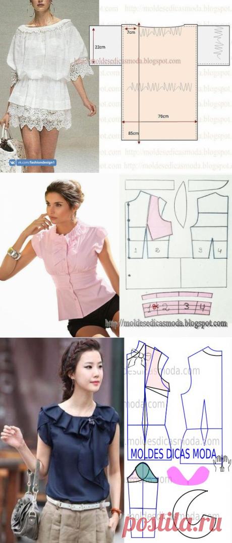 Красивые блузки: моделирование — Сделай сам, идеи для творчества - DIY Ideas