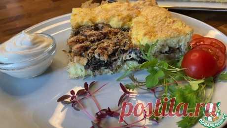 Картофельный пирог с курицей и грибами Кулинарный рецепт