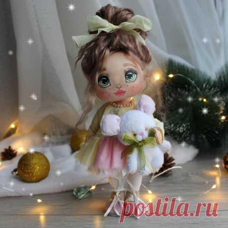 Текстильная куколка, рост 23 см