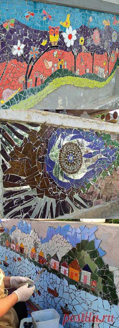 Заборы для дачи: фото 40 красивых заборов с мозаикой