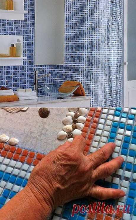 Отделка стен мозаикой. Способы нанесения мозаики на стену