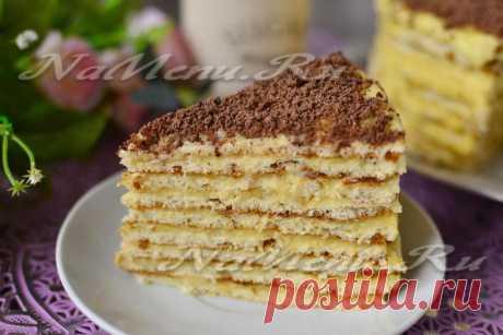 Торт на сковороде со сгущенкой, рецепт с фото