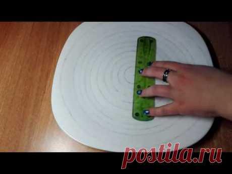 Разметка тарелки перед росписью