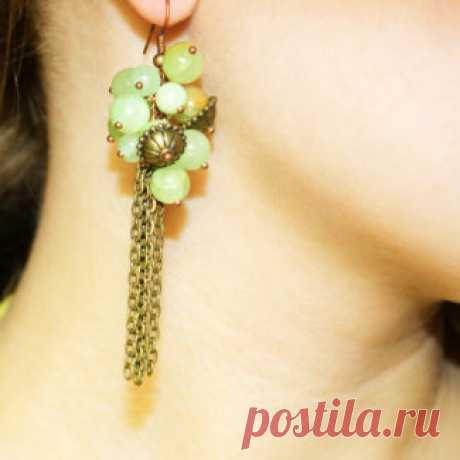 Серьги Amorella - авторские украшения с камнями