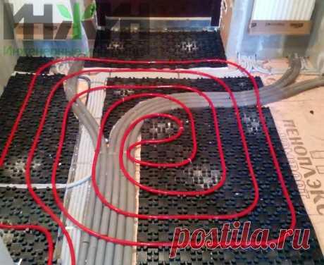 Монтаж теплого пола в доме из кирпича, фото 763
