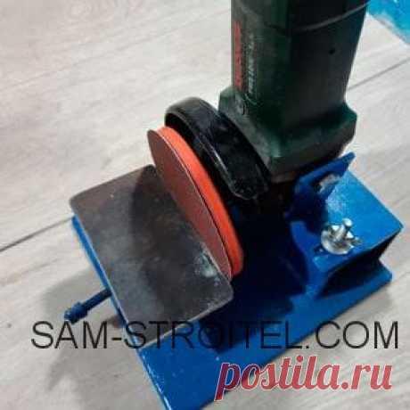 Шлифовальный станок из болгарки своими руками Простой самодельный шлифовальный станок, сделанный из болгарки. Понадобился шлифовальный станок для всяких мелких работ, делать рукоятки для ножей и ручного инструмента.