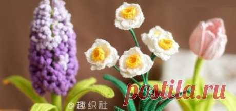 Цветы крючком и спицами - Handmade-Paradise