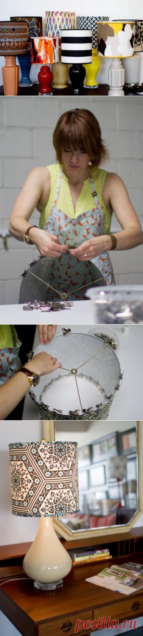 Как сделать тканевый абажур своими руками