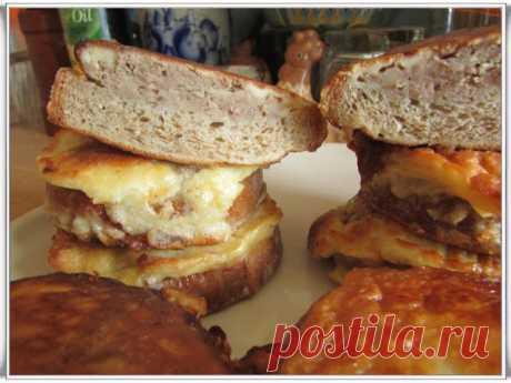 Горячие бутерброды с мясным фаршем или ленивые чебуреки