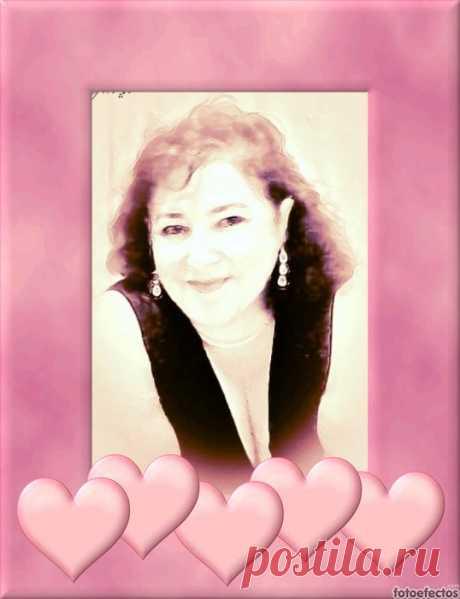 Marco para foto con el borde color rosa con decoración de corazones. - fotoefectos.com