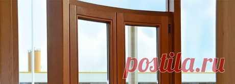 Радиусные (моллированные) деревянные окна в Москве и Московской области, поставка окон из дерева от европейских производителей