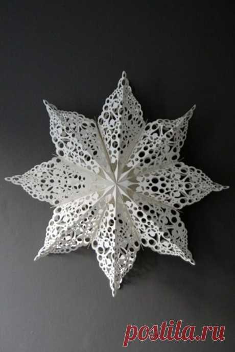 Объёмные снежинки для украшения. Идеи и мастер-классы