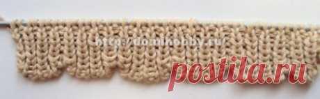 Вязание волнистого края спицами