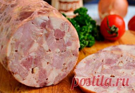 Домашняя ветчина из килограмма свинины: оставили в духовке на ночь и пробуем на утро